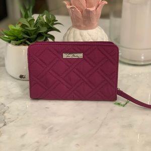 NWOT Vera Bradley Purple Wallet Wristlet